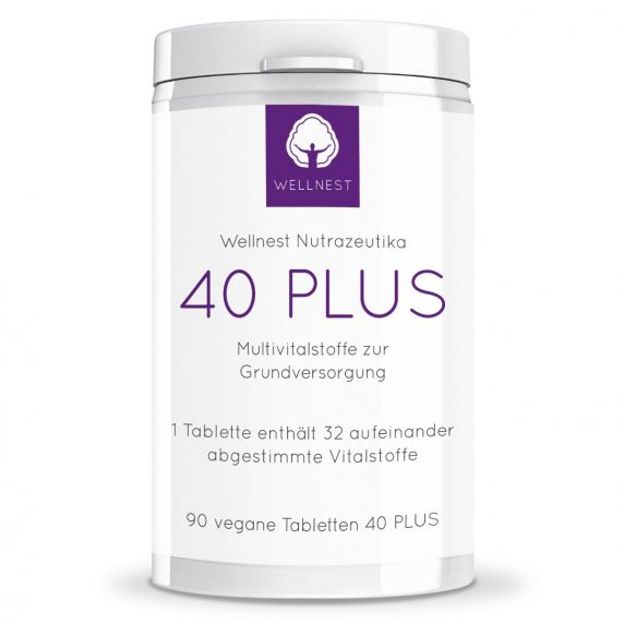 90 vegane Tabletten 40 PLUS Multivitalstoffe
