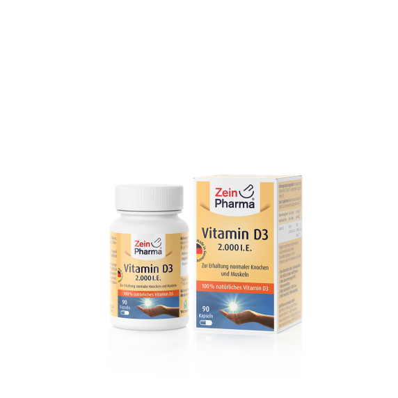90 vegetarische Tabletten Vitamin D3 50 µg (2000 IE)