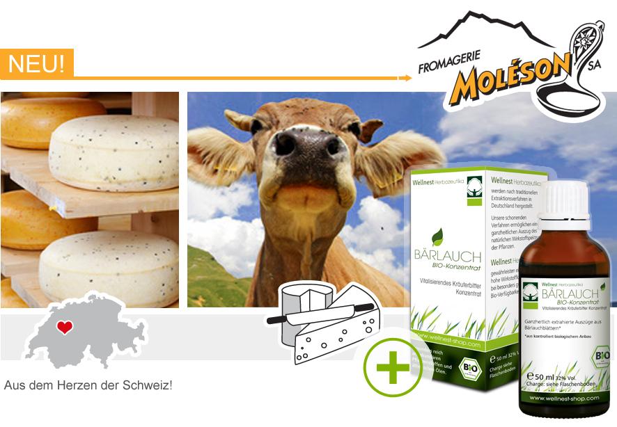 Moleson Kaese mit Wellnest-Baerlauch