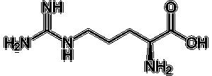 Strukturformel von L-Arginin